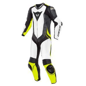 Dainese Laguna Seca 4 Perforated White Black Fluo Yellow 1 Piece
