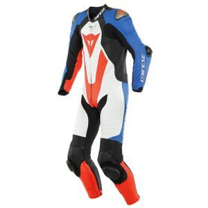 Dainese Laguna Seca 5 Perforated White Light Blue Black Fluo Red1 Piece