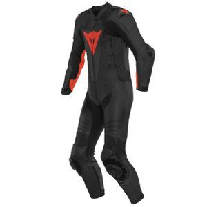 Dainese Laguna Seca 5 Perforated Black Fluo Red1 Piece