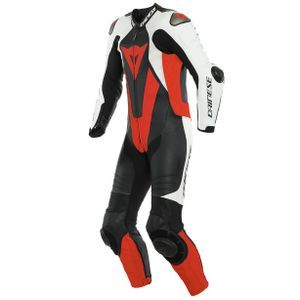 Dainese Laguna Seca 5 Perforated Zwart Wit Fluo Rood 1 Delig Motorpak