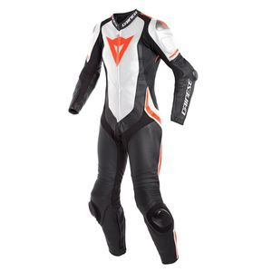 Dainese Laguna Seca 4 Perf. Lady Black White Fluo Red 1 Piece