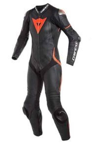 Dainese Laguna Seca 4 Perf. Lady Black Black Fluo Red 1 Piece