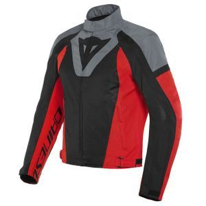Dainese Levante Air Tex Black Charcoal Gray Lava Red