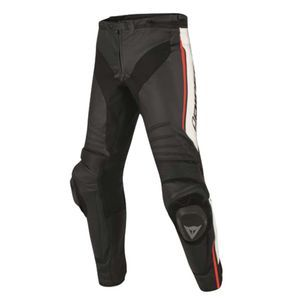 Dainese Misano Leather Black White Fluo Red