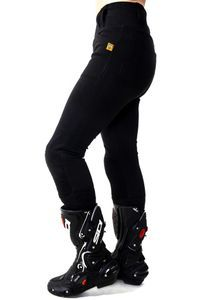 MotoGirl Ribbed Knee Leggings Short Full Kevlar