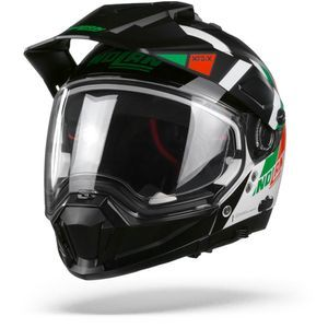 Nolan N70-2 X Decurio 34 Metal White Green Red Black