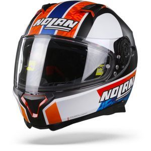 Nolan N87 Gemini 95 Rins Flat Black White Orange Blue