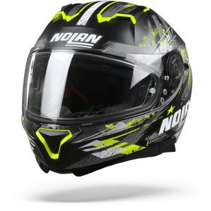 Nolan N87 Carnival 85 Flat Black Yellow Anthracite