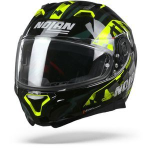 Nolan N87 Venator 90 Glossy Black Yellow Anthracite