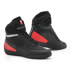 REV'IT! Mission Chaussures De Moto Noir Rouge Néon