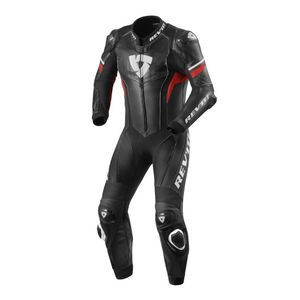 REV'IT! Hyperspeed Suit Traje Enterizo 1 Pic Negro Rojo Neon