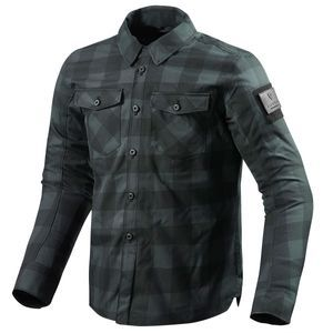 REV'IT! Bison Sobrecamisa Motorista Negro Gris