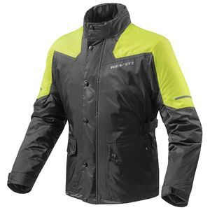 REV'IT! Nitric 2 Rain Chaqueta Motorista Negro Amarillo Neon