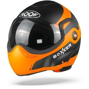 ROOF BoXXer Fuzo Casque Modulable Orange Noir Mat