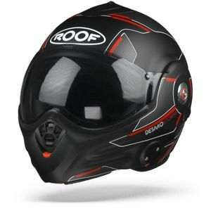 ROOF Desmo Storm Matt Black Titan Red