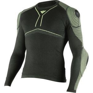 Dainese D-Core Armored Longsleeve Black Fluo Yellow