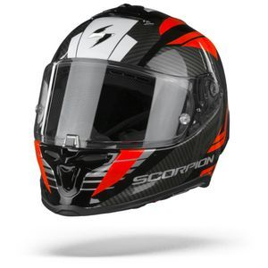 Scorpion EXO-R1 Air Halley Casque Intégral Noir Metal Rouge