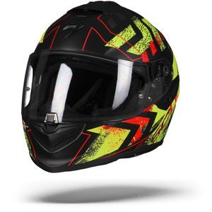 Scorpion EXO-1400 Air Picta Matt Black Yellow Fluo