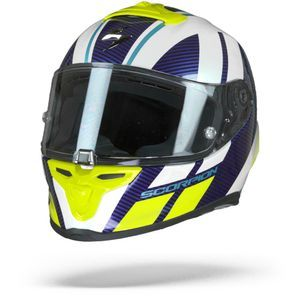 Scorpion EXO-R1 Air Corpus White Blue Neon Yellow