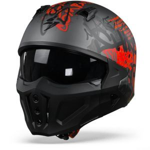 Scorpion Covert-X Wall Dark Silver Matt Red