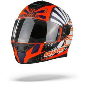 Shark D-Skwal 2 Zarco 2019 Matt Orange White Blue OWB