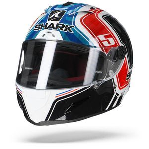 Shark Race-R Pro Zarco France GP WBR White Blue Red