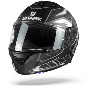 Shark Spartan 1.2 Antheon Matt Black White Black KWK