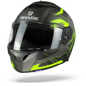 Shark Spartan 1.2 Antheon Matt Anthracite Yellow Black AYK