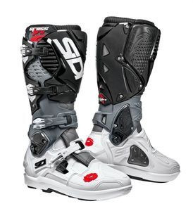 Sidi Crossfire 3 SRS White Grey Black Motorcycle Boots