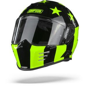 Simpson Venom Subdued Yellow Stars Black Yellow