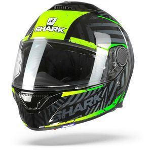 Shark Spartan 1.2 Kobrak KYG Black Yelllow Green