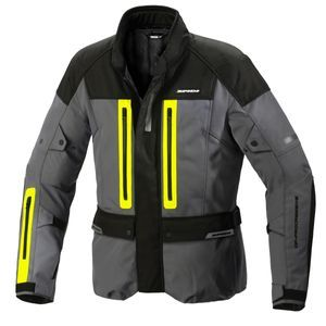 Spidi Traveler 3 Black Yellow Fluo Motorcycle Jacket