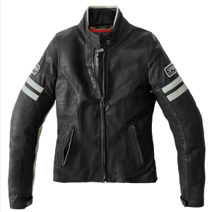 SPIDI VINTAGE LADY ICE BLACK MOTORCYCLE JACKET