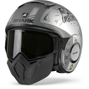 Shark Street Drak Tribute RM Casco Jet Mate Plata AntracitaSAA