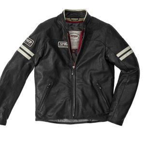 SPIDI VINTAGE ICE BLACK MOTORCYCLE JACKET