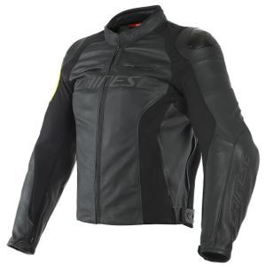 Dainese VR46 Pole Position Black Fluo Yellow