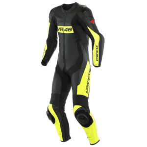 Dainese VR46 Tavullia Perforated Black Fluo Yellow