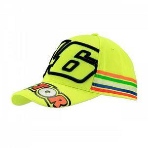 VR46 CLASSIC STRIPES FLUO YELLOW CAP