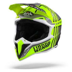 Airoh Wraap Broken Casco Integral Mate Amarillo