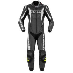 Spidi Sport Warrior Perf. Pro Traje Carreras 1PC Negro Blanco