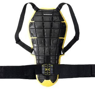 Spidi Back Warrior Evo Black Yellow