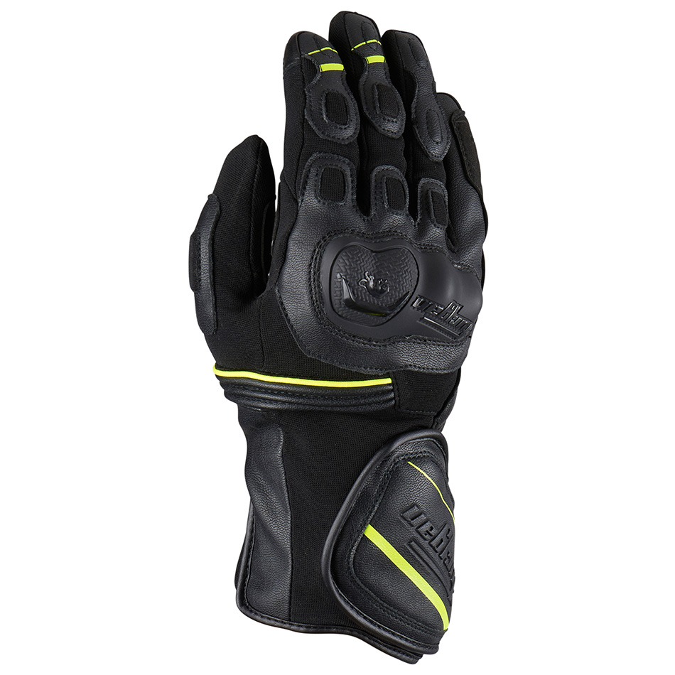 Furygan Dirt Road Black Yellow Fluo Motorcycle Gloves L