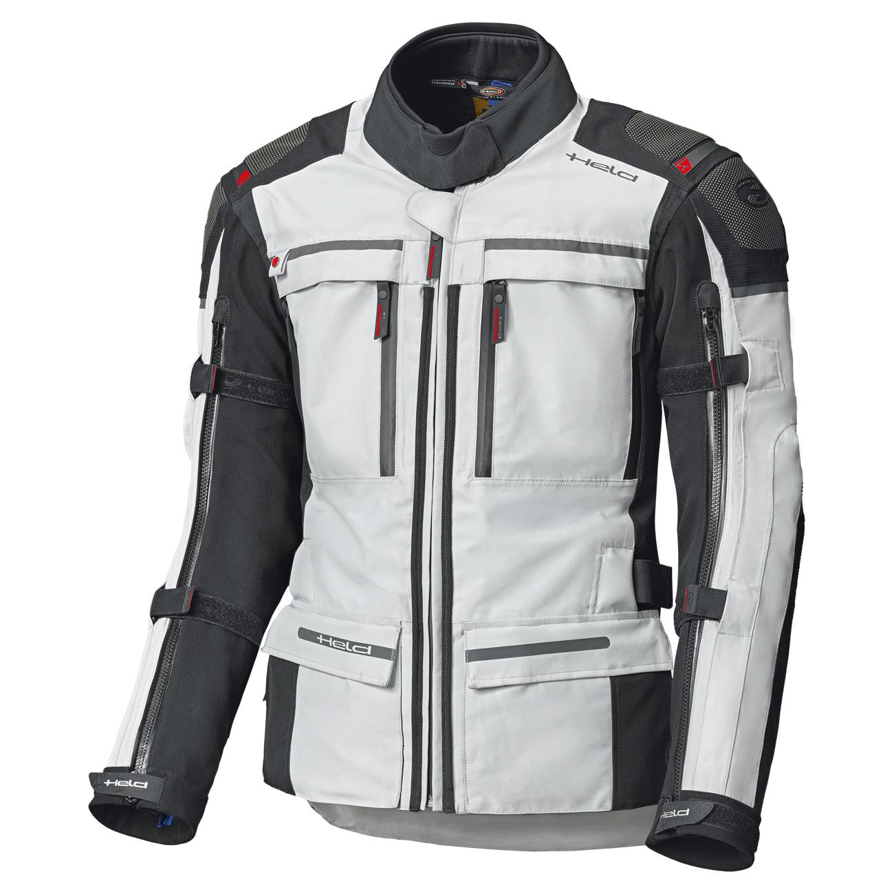 Held Atacama Top Gore-Tex Veste De Moto Textile Gris Rouge XL