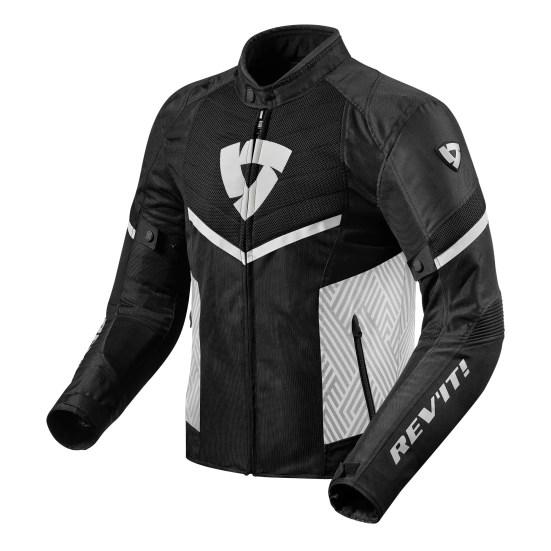 REV'IT! Arc Air Veste Moto Noir Blanc 2XL