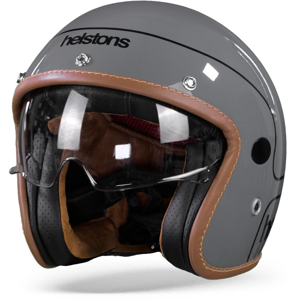 Helstons Corporate Casque Moto En Fibre De Carbone Gris S