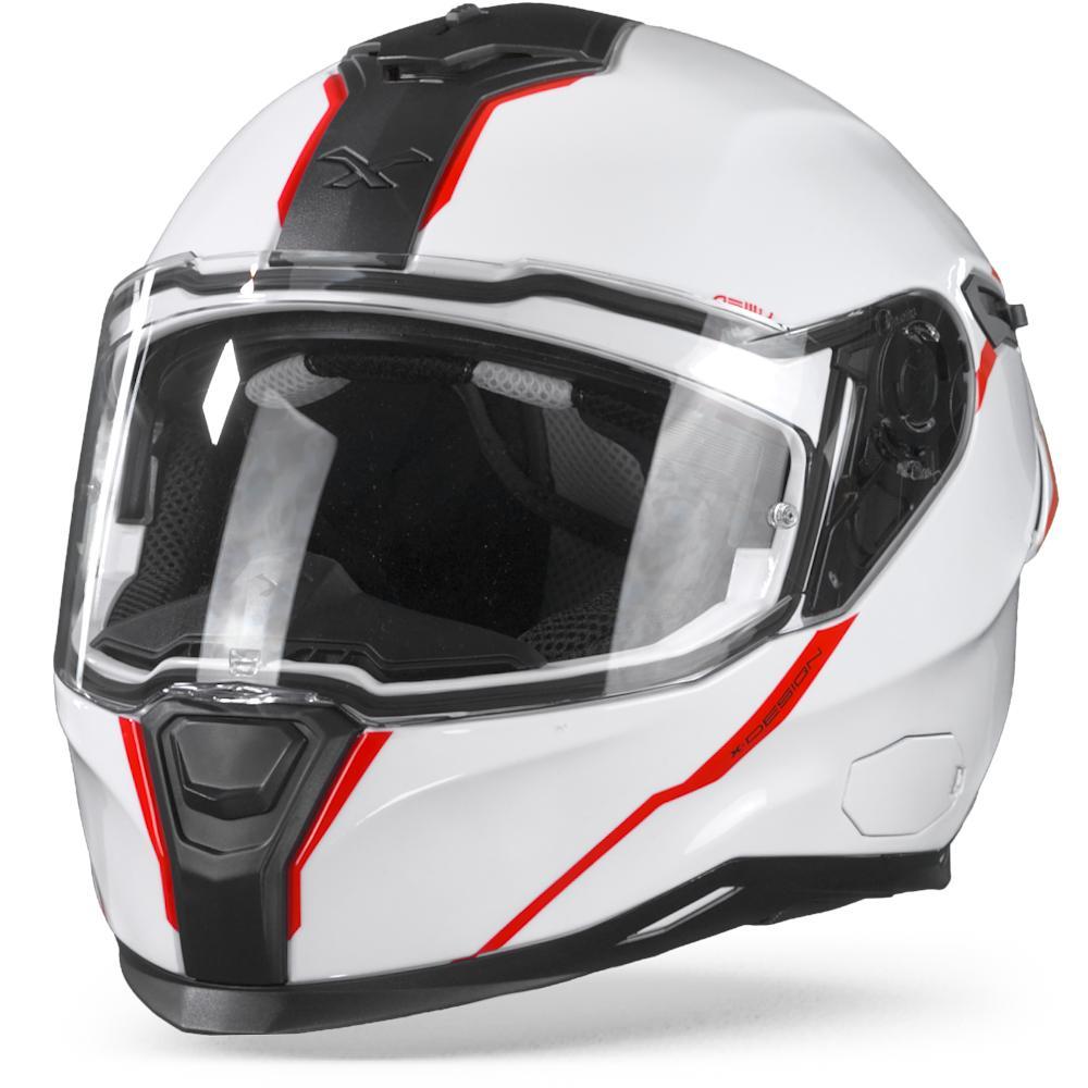 Nexx SX.100R Shortcut White Red  XL