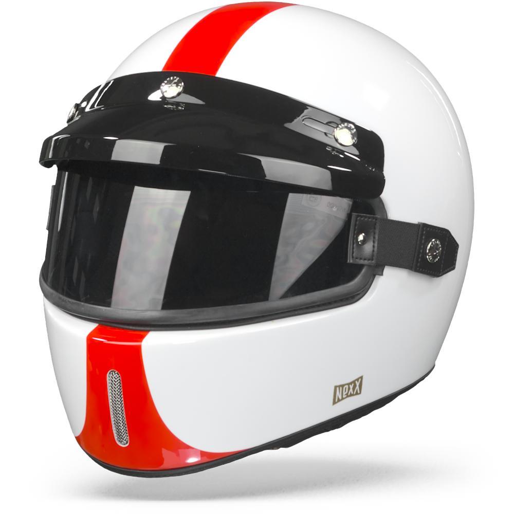 Nexx X.G100 Half Mile White Red 2XL