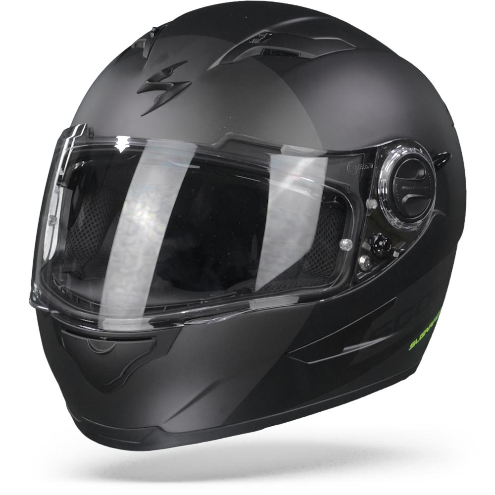 Scorpion EXO-490 Pace II Matt Black Silver XL