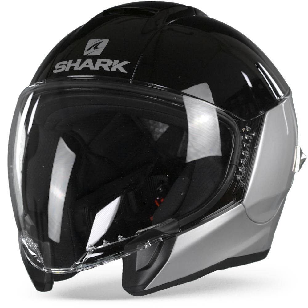 Shark Citycruiser Dual Blank Casque Jet Noir Argent Noir Argent XS
