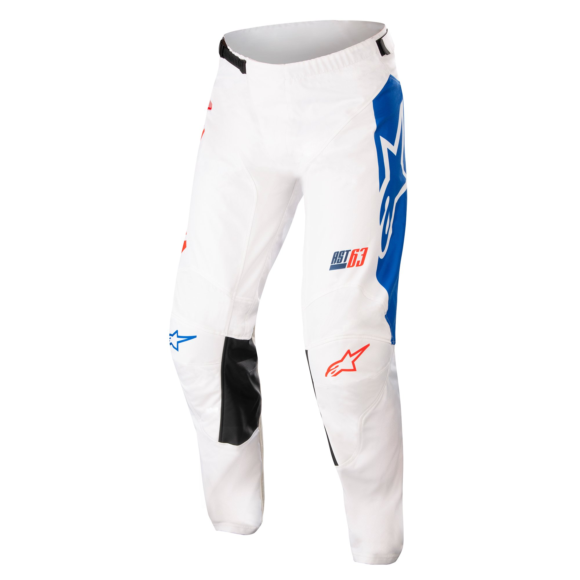 Alpinestars Racer Compass Pants Off White Red Fluo Blue 34